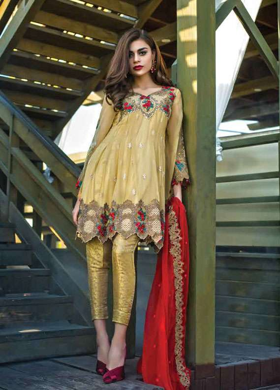 78f1f7cb14 Reemal Khan Embroidered Chiffon Unstitched 3 Piece Suit RK18C 02