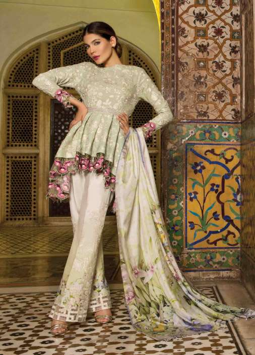 Rungrez Embroidered Chiffon Unstitched 3 Piece Suit RNG17E2 01