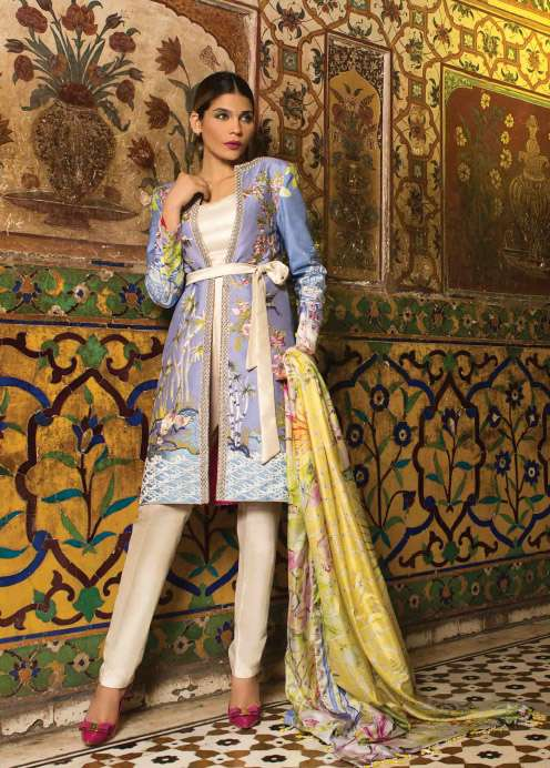 Rungrez Embroidered Silk Unstitched 3 Piece Suit RNG17E2 03