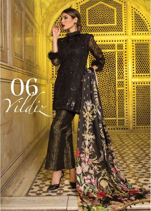 Rungrez Embroidered Organza Unstitched 3 Piece Suit RNG17E2 06