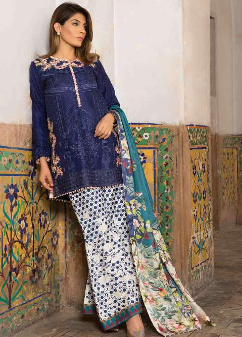 Rungrez Embroidered Silk Unstitched 3 Piece Suit RNG17E2 08