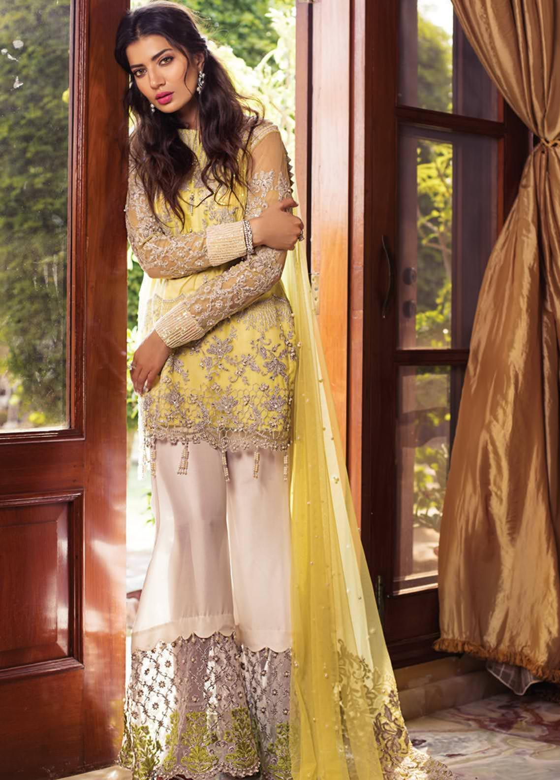 Rozina Munib Embroidered Chiffon Unstitched 3 Piece Suit RZM19C 02 - Festive Collection