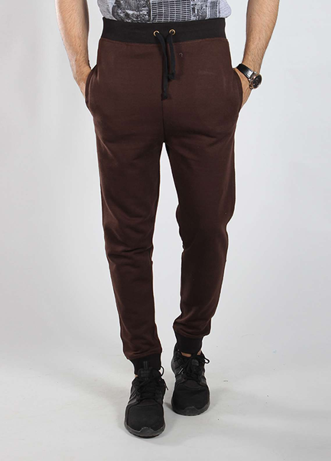 Red Tree Knitted Casual Men Trousers - Brown RTM18TR 6021