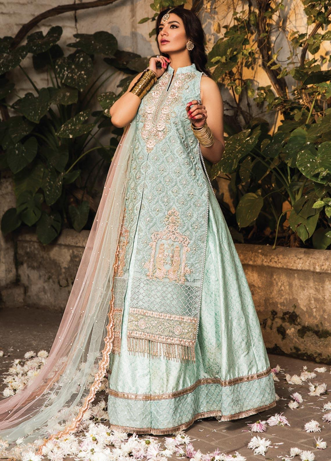 Zarqash Embroidered Organza Unstitched 3 Piece Suit ZRQ20WE 2 MIRAL - Wedding Collection