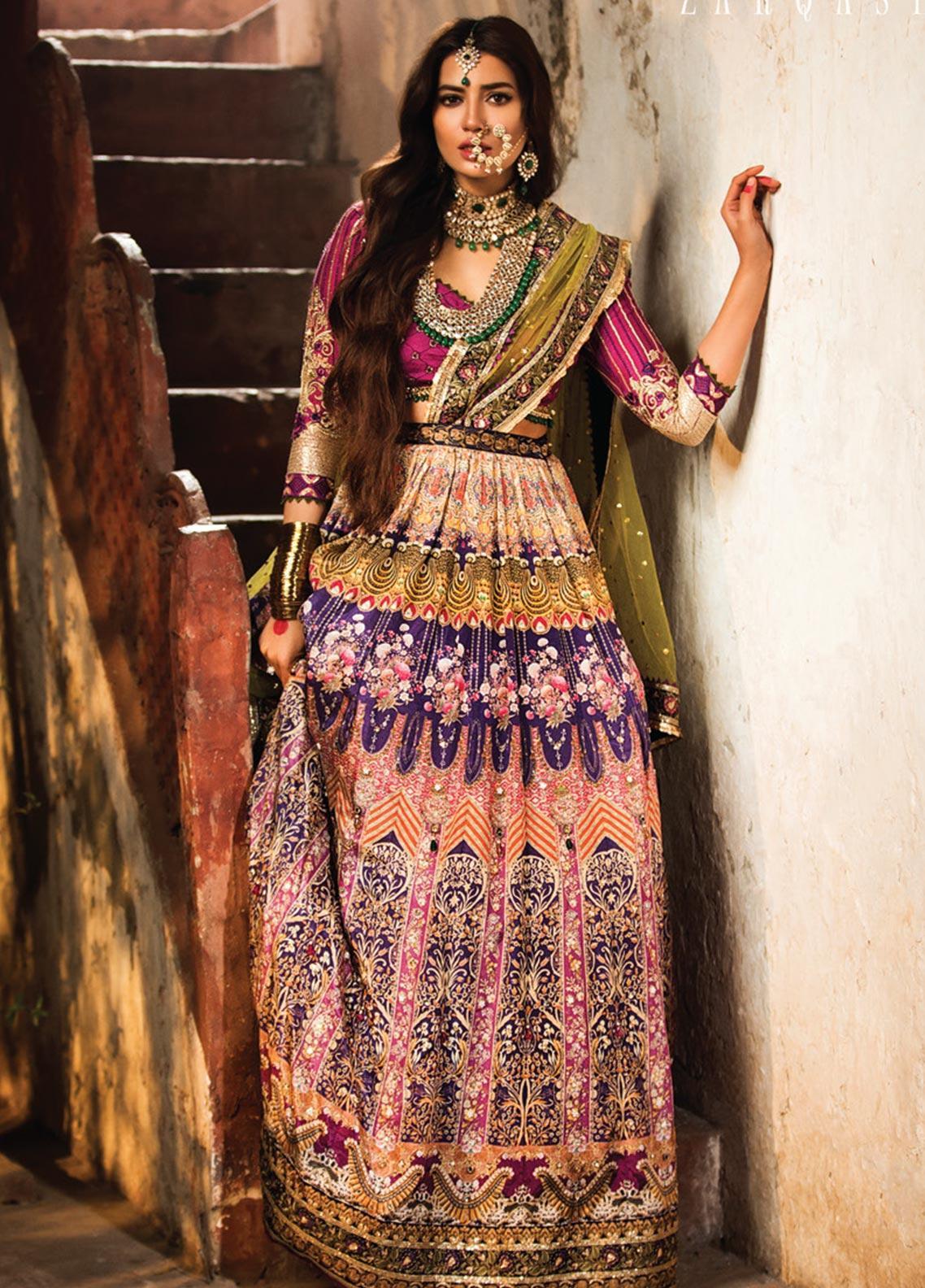 Zarqash Embroidered Raw Silk Unstitched 3 Piece Suit ZRQ20WE 5 NOORI - Wedding Collection