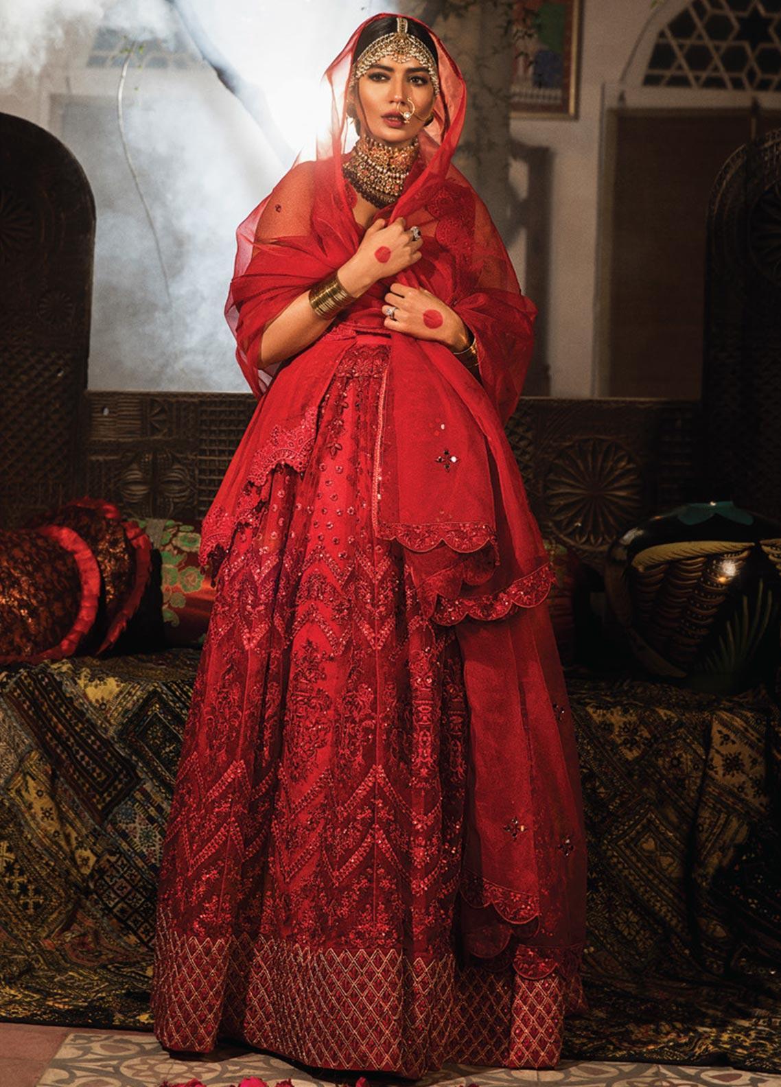 Zarqash Embroidered Chiffon Unstitched 3 Piece Suit ZRQ20WE 6 GULNAZ - Wedding Collection