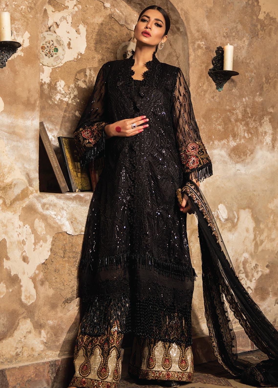 Zarqash Embroidered Organza Unstitched 3 Piece Suit ZRQ20WE 7 BAHAR BANO - Wedding Collection