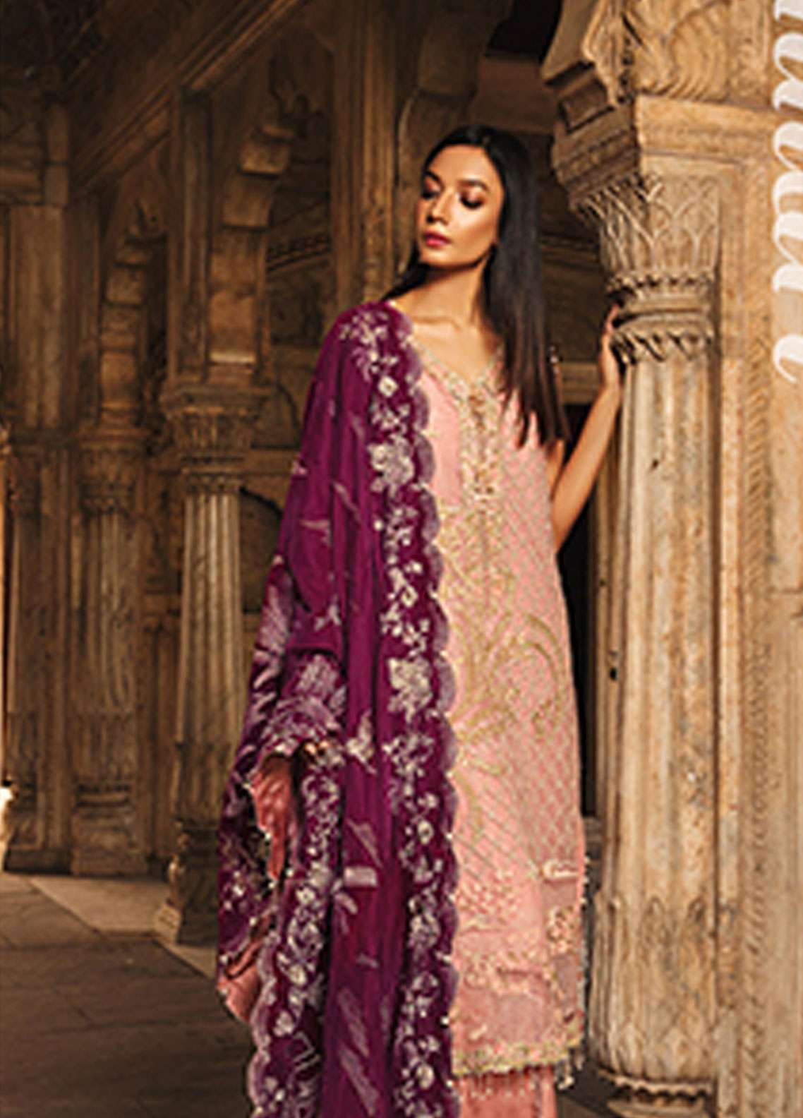 Rungrez Embroidered Chiffon Unstitched 3 Piece Suit RNG18CP 8 Punkhari - Luxury Collection