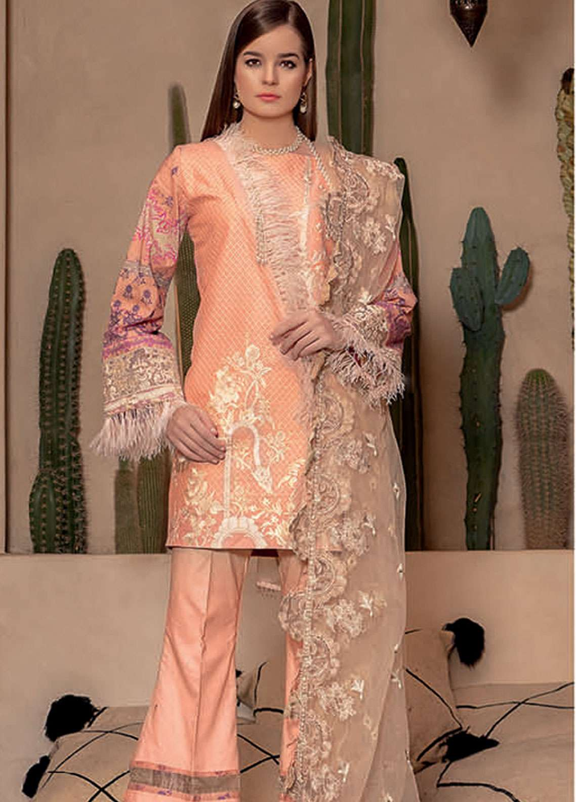 Rungrez Embroidered Lawn Unstitched 3 Piece Suit RNG19L 01 - Spring / Summer Collection