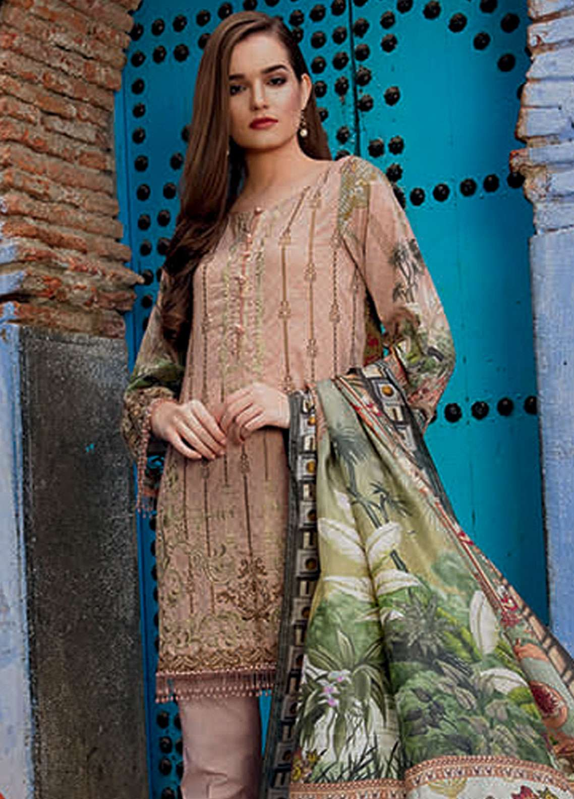 Rungrez Embroidered Lawn Unstitched 3 Piece Suit RNG19L 04 - Spring / Summer Collection