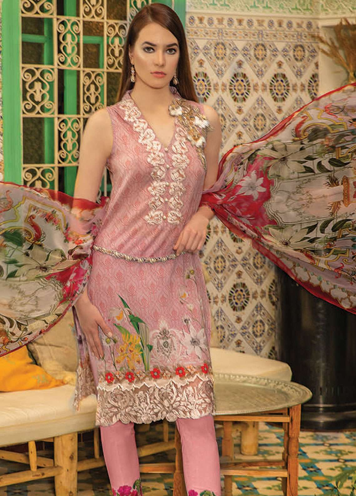 Rungrez Embroidered Lawn Unstitched 3 Piece Suit RNG19L 06 - Spring / Summer Collection