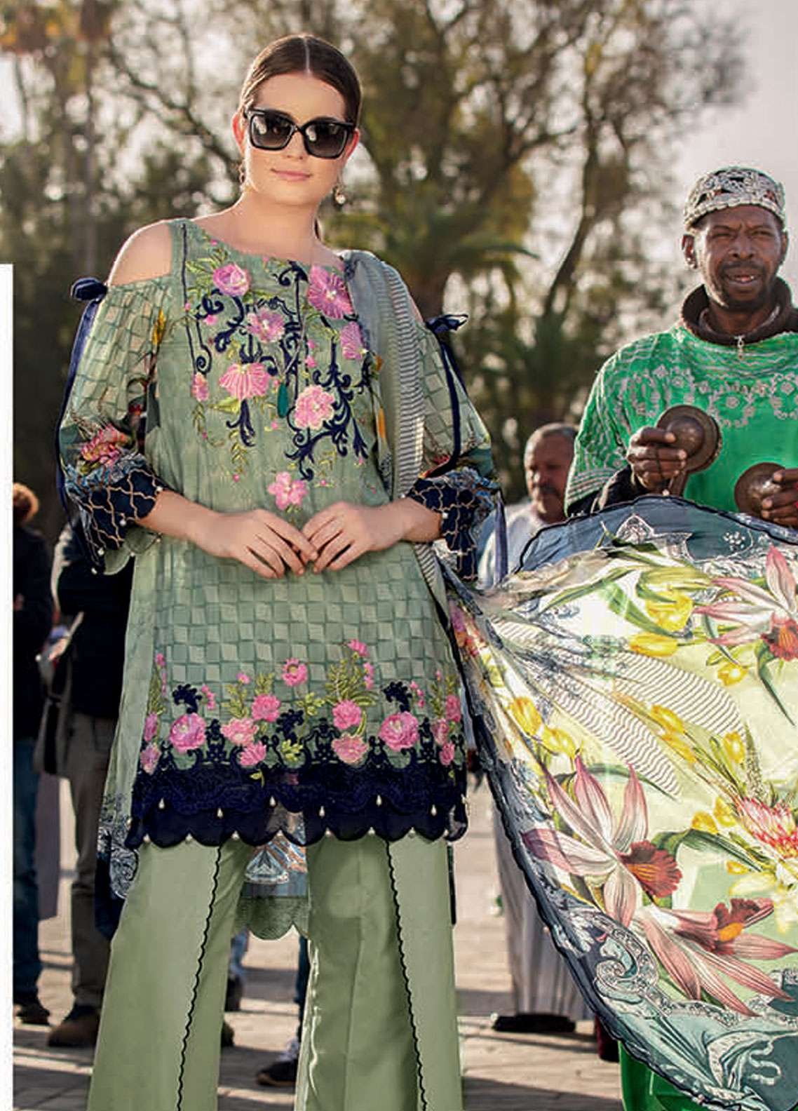 Rungrez Embroidered Lawn Unstitched 3 Piece Suit RNG19L 07 - Spring / Summer Collection