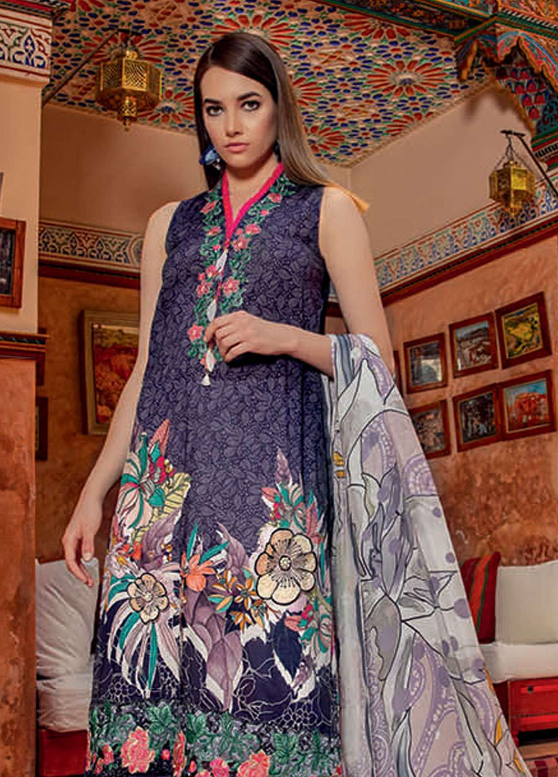 f1ab11adae Rungrez Embroidered Lawn Unstitched 3 Piece Suit RNG19L 11 - Spring / Summer  Collection