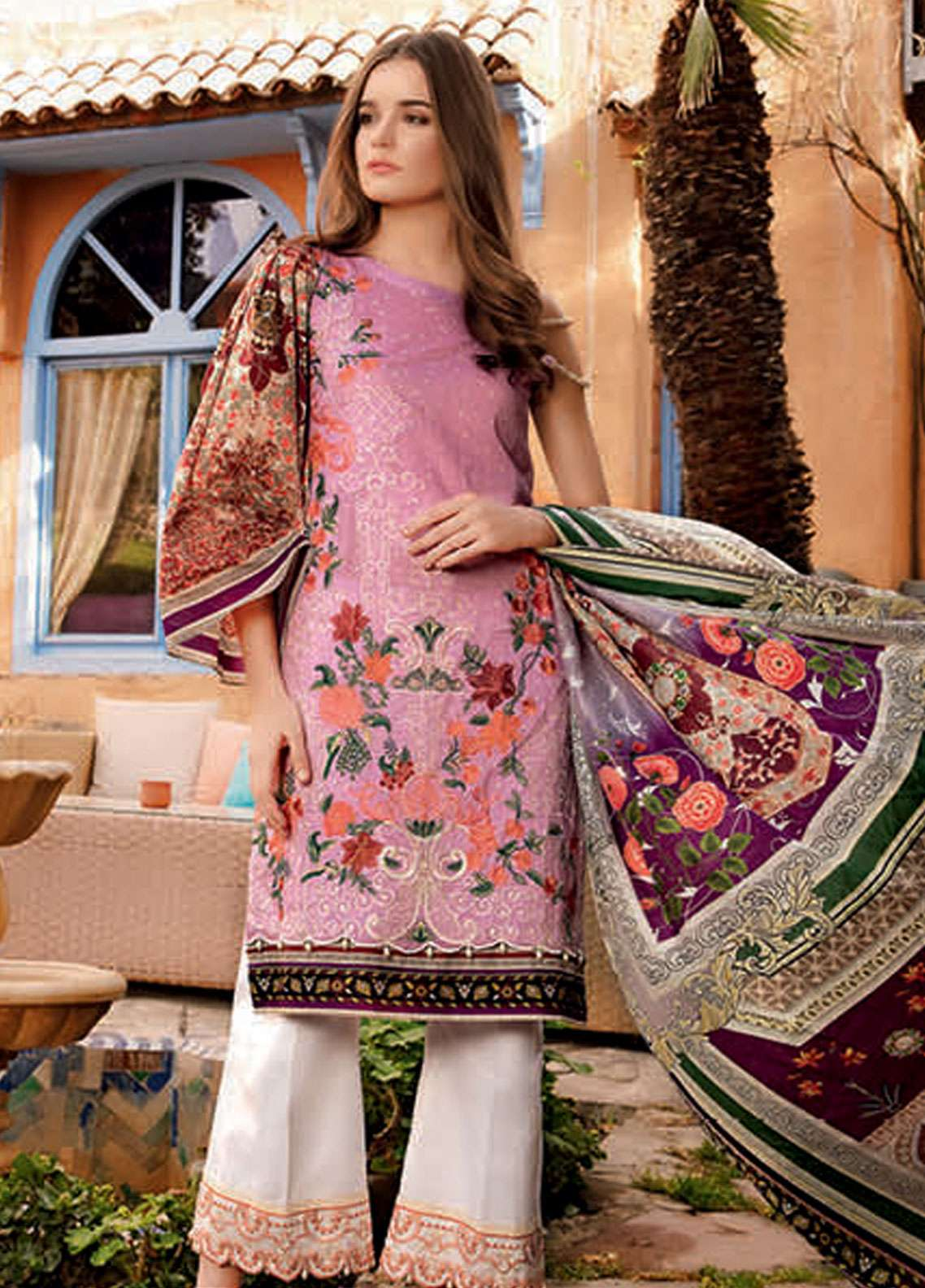 a7d182d99f Rungrez Embroidered Lawn Unstitched 3 Piece Suit RNG19L 12 - Spring / Summer  Collection