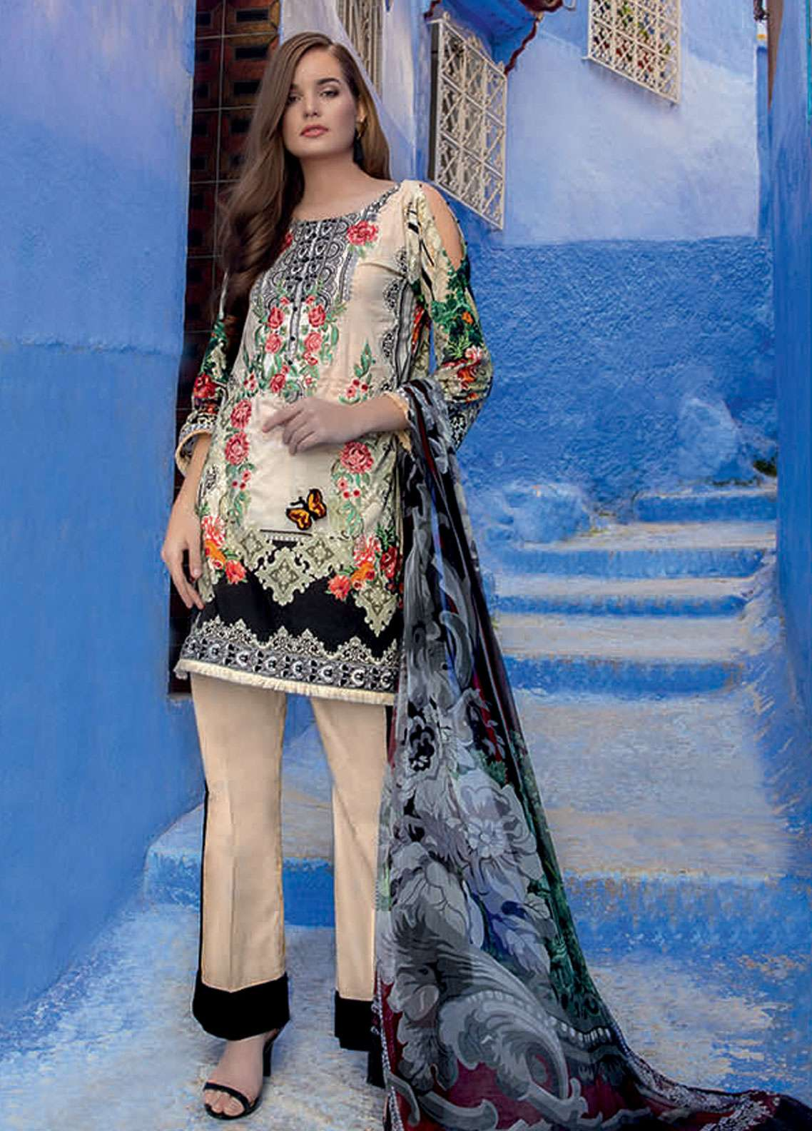 f262c2a3fe Rungrez Embroidered Lawn Unstitched 3 Piece Suit RNG19L 15 - Spring / Summer  Collection
