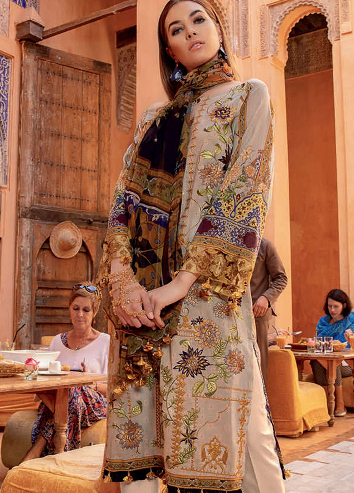 Rungrez Embroidered Lawn Unstitched 3 Piece Suit RNG19L 16 - Spring / Summer Collection