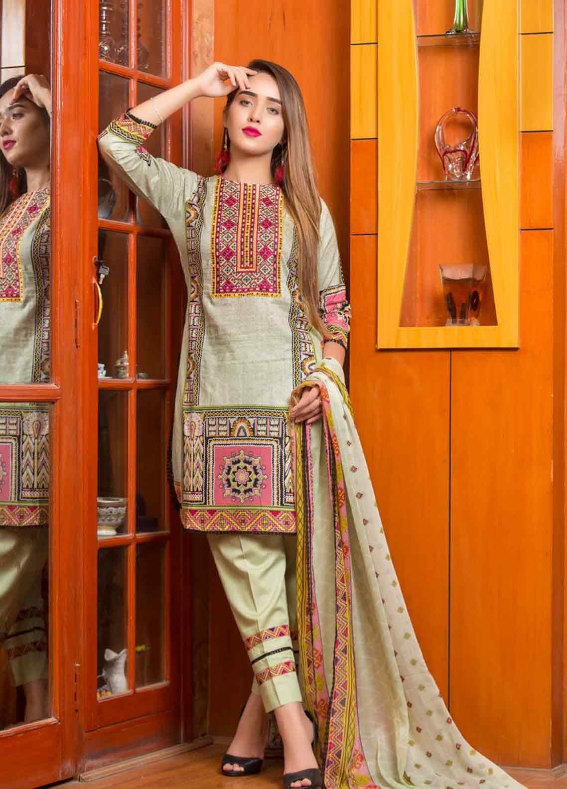 Ruqayyah Embroidered Lawn Unstitched 3 Piece Suit RQY19L 02B - Mid Summer Collection