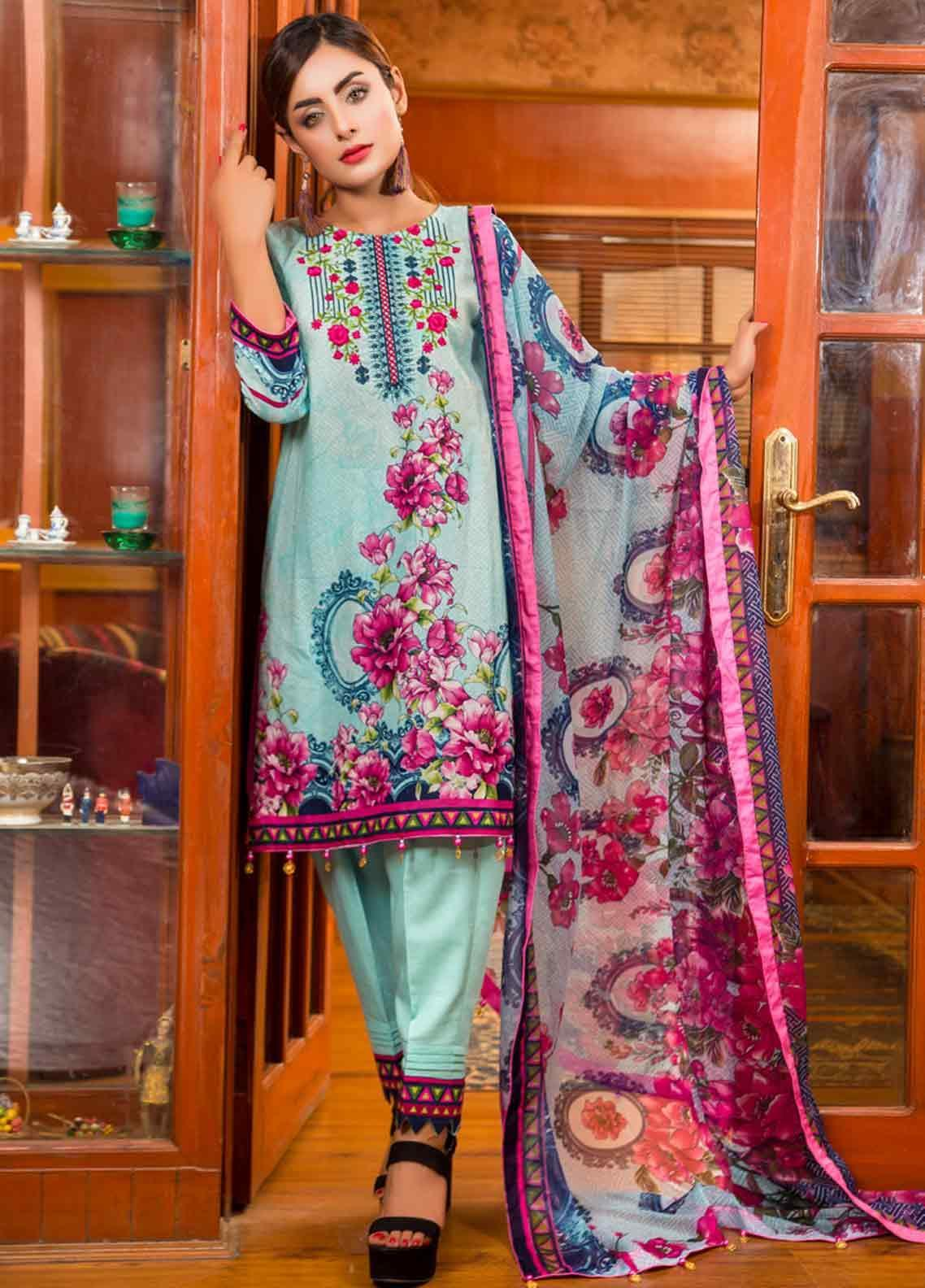 Ruqayyah Embroidered Lawn Unstitched 3 Piece Suit RQY19L 06A - Mid Summer Collection