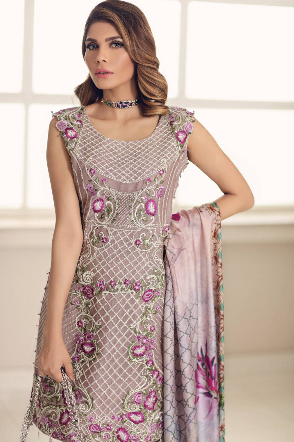 Noor by Saadia Asad Embroidered Cotton Unstitched 3 Piece Suit SA17E2 02