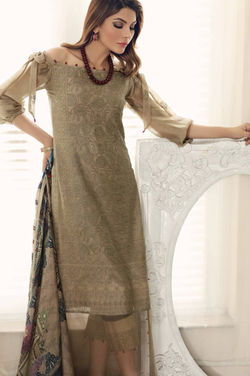 Noor by Saadia Asad Embroidered Cotton Unstitched 3 Piece Suit SA17E2 03