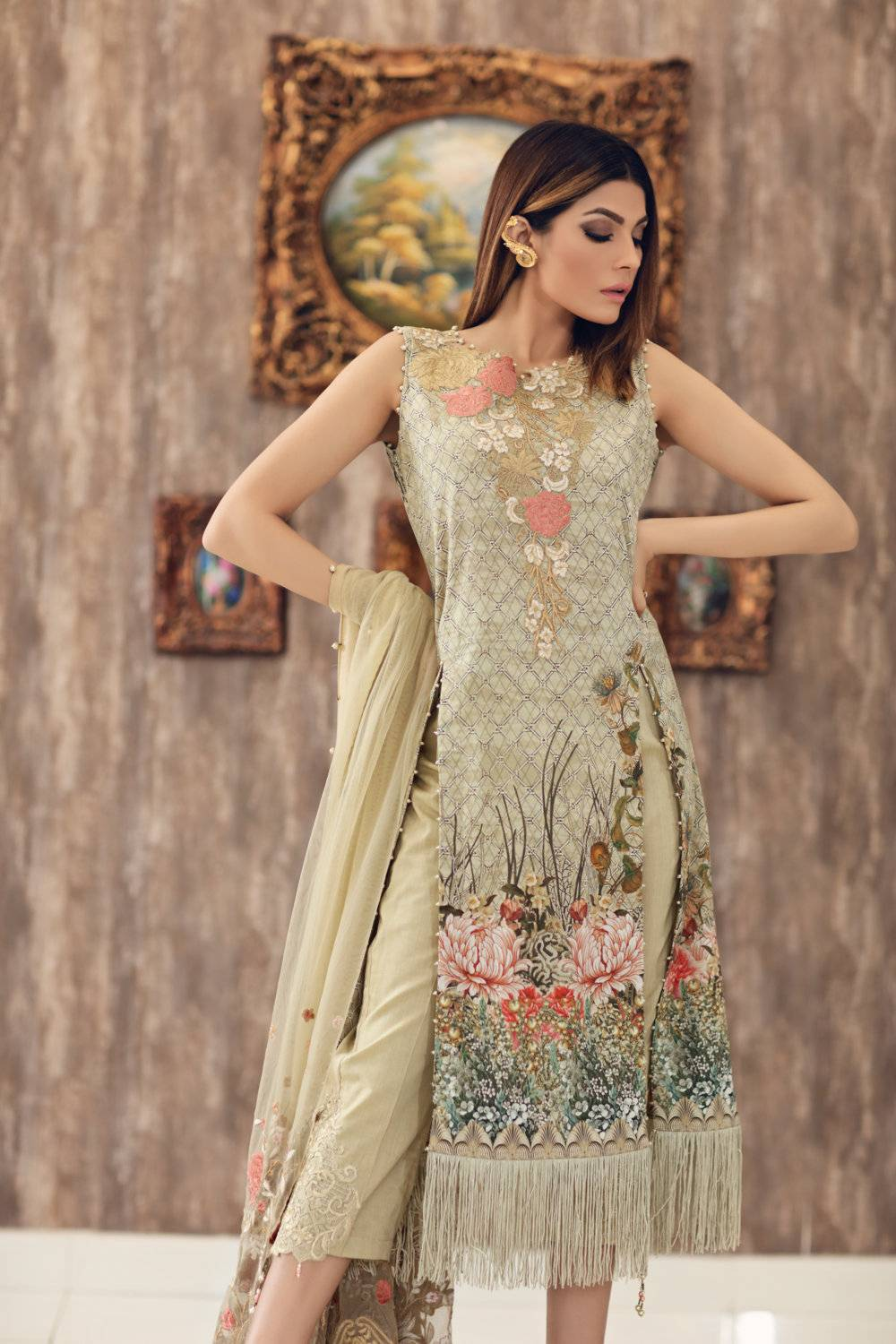 Noor by Saadia Asad Embroidered Cotton Unstitched 3 Piece Suit SA17E2 05