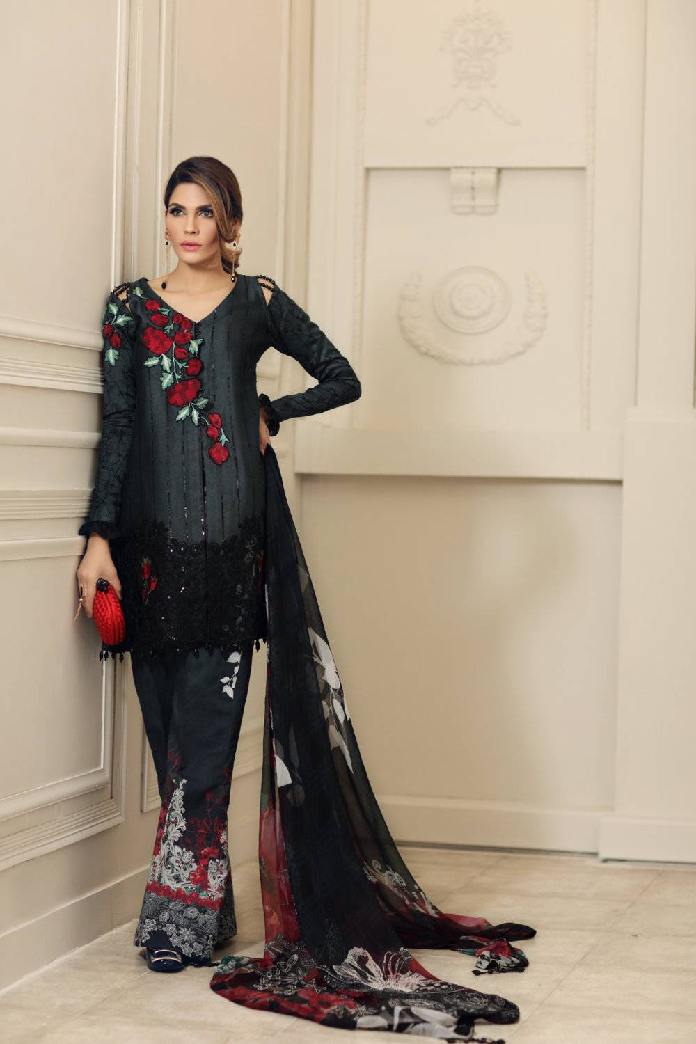Noor by Saadia Asad Embroidered Cotton Unstitched 3 Piece Suit SA17E2 08