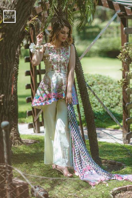 Noor by Saadia Asad Embroidered Lawn Unstitched 3 Piece Suit SA17L 6B