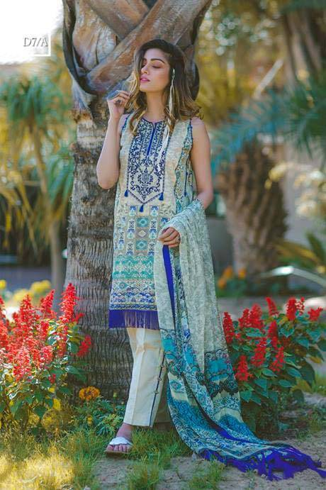 Noor by Saadia Asad Embroidered Lawn Unstitched 3 Piece Suit SA17L 7A