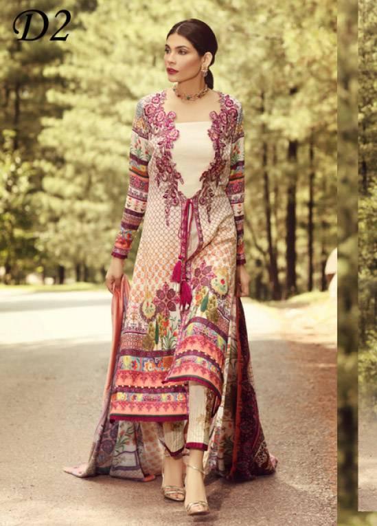 Noor by Saadia Asad Embroidered Karandi Unstitched 3 Piece Suit SA17W 02