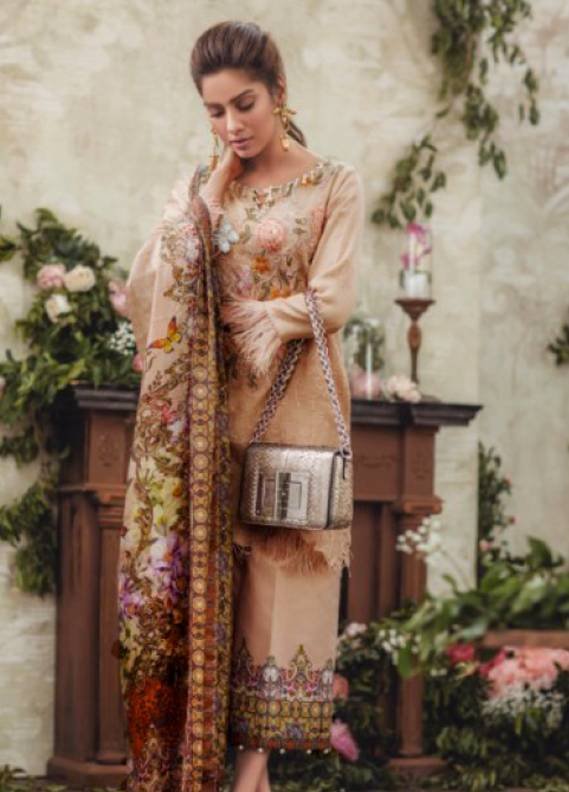 93737aed13 Noor By saadia asad Embroidered Lawn Unstitched 3 Piece Suit SA18L 04  GITTERATI - Luxury Collection
