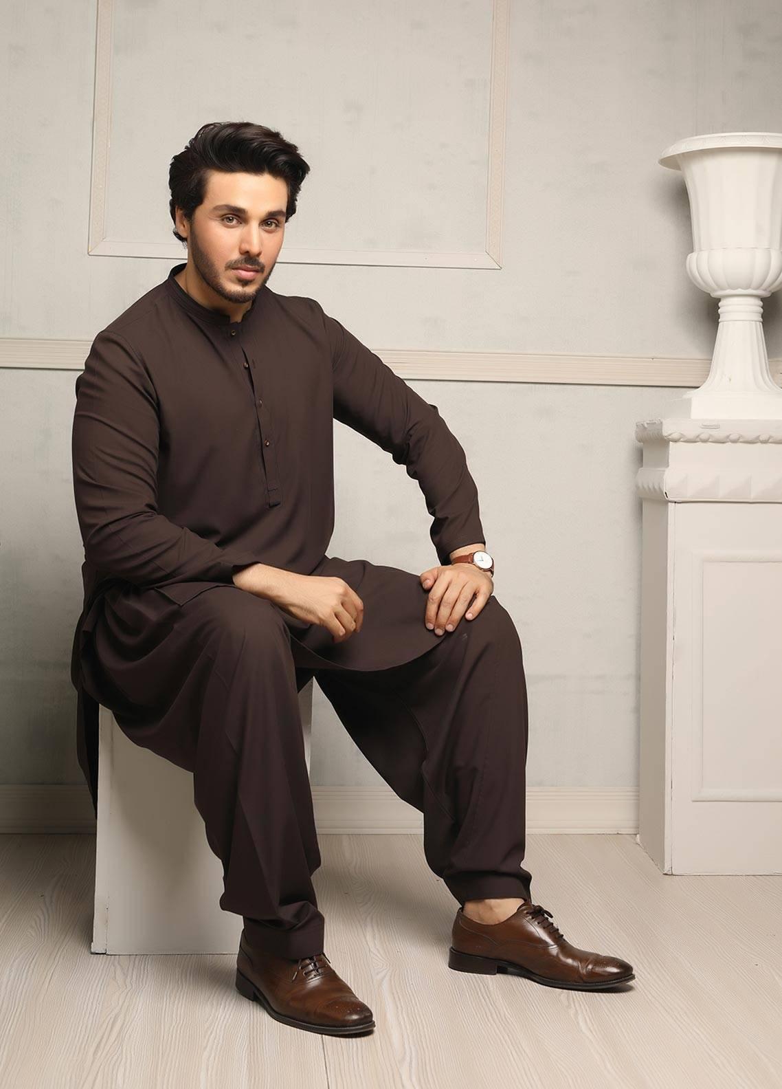 Safeer by Edenrobe EMUB18-TRIBUTE Blended Unstitched Men's Kameez Shalwar Fabric