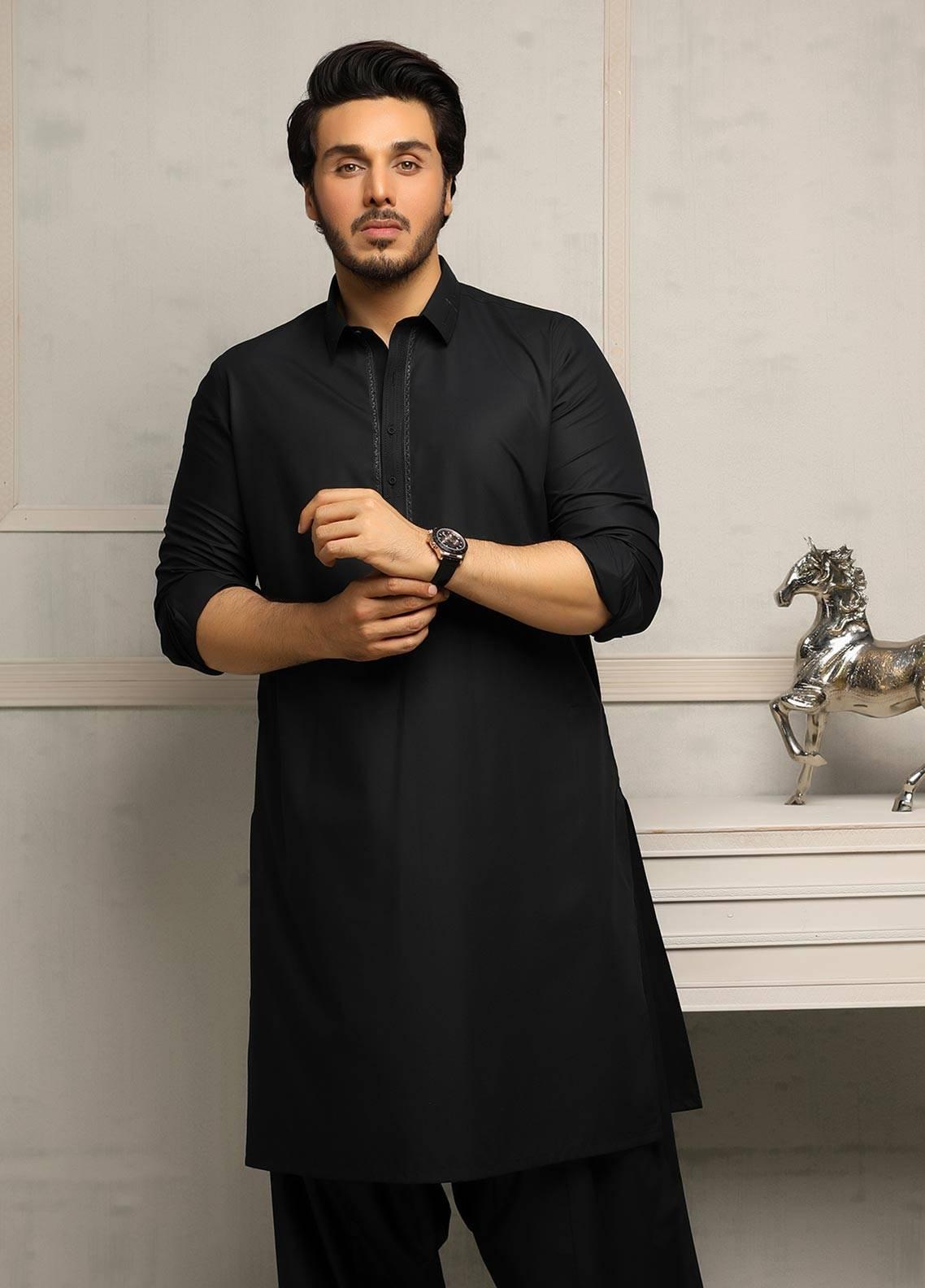 Safeer by Edenrobe EMUB18-ZIRCON Blended Unstitched Men's Kameez Shalwar Fabric