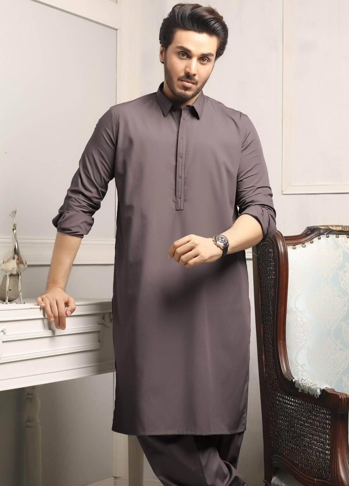b74cf94726 Safeer by Edenrobe EMUC18-ELEGANCE Cotton Unstitched Men's Kameez Shalwar  Fabric. Online only