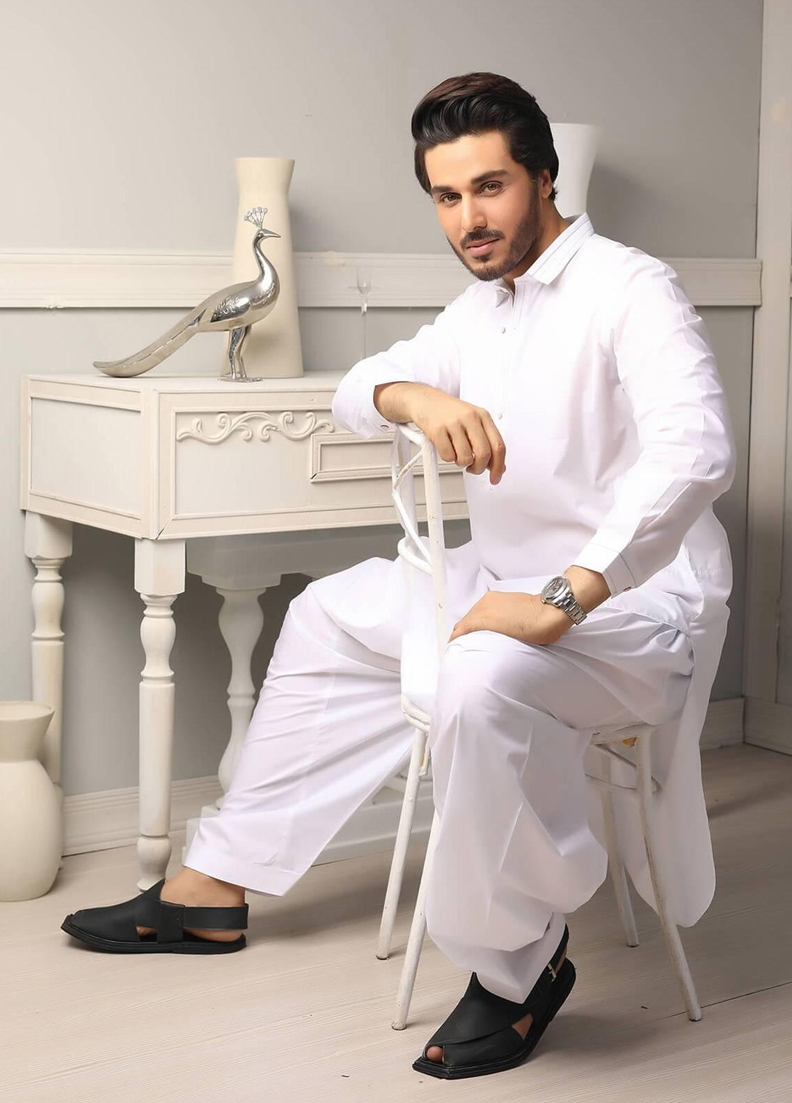 e09a726be7 Safeer by Edenrobe EMUC18-FANTASY Cotton Unstitched Men's Kameez Shalwar  Fabric. Online only