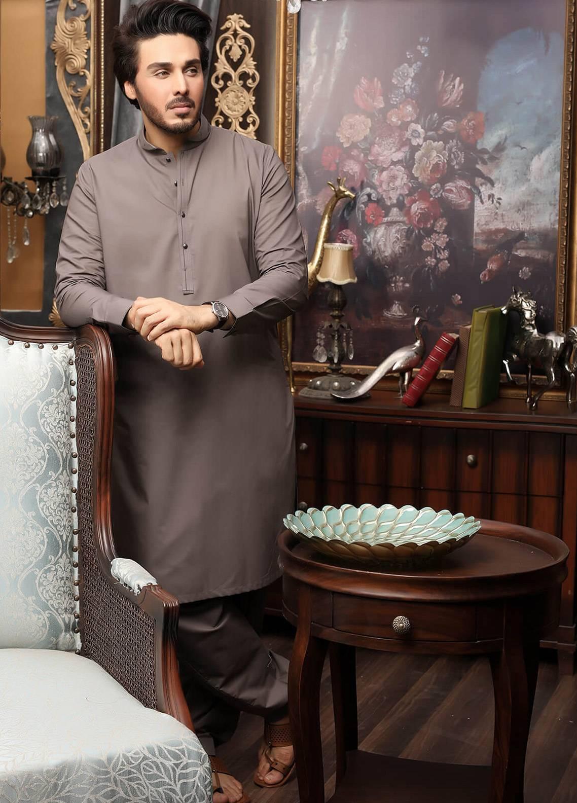 65324a7ca2 Safeer by Edenrobe EMUC18-OBSESSION Cotton Unstitched Men's Kameez Shalwar  Fabric. Online only