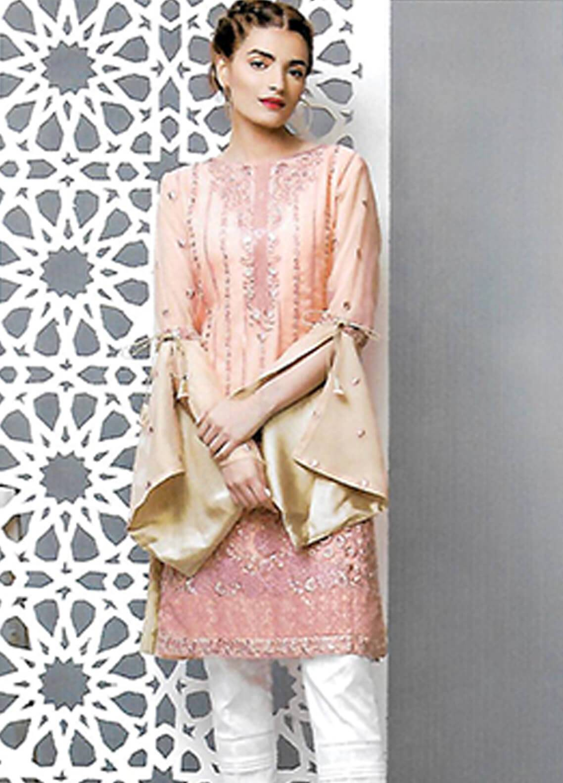 Sahil By ZS Textiles Embroidered Organza Unstitched Kurties SE18KC 02 - Mid Summer Collection
