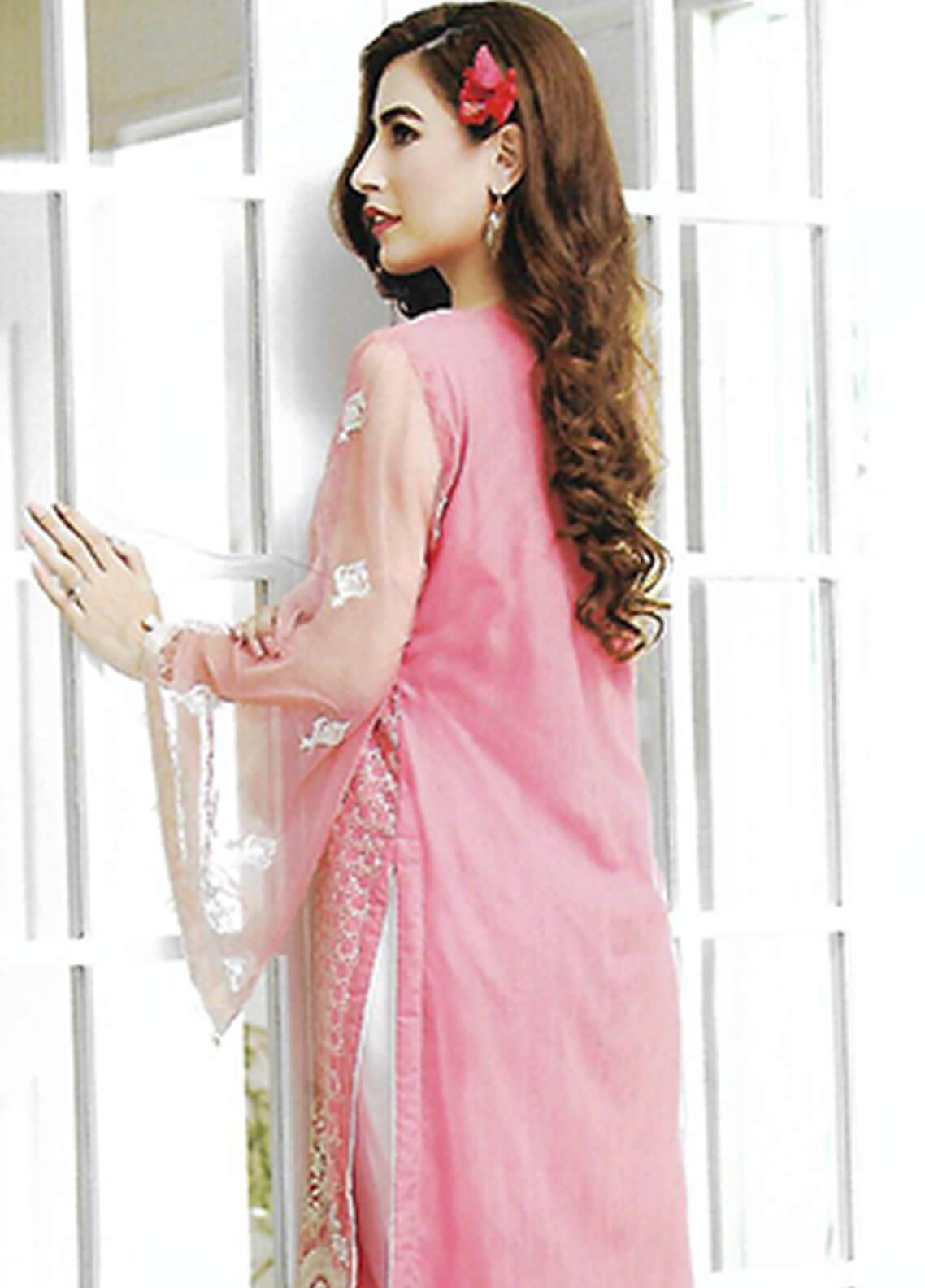 7dfee9787d Sahil By ZS Textiles Embroidered Organza Unstitched Kurties SE18KC 04 - Mid  Summer Collection