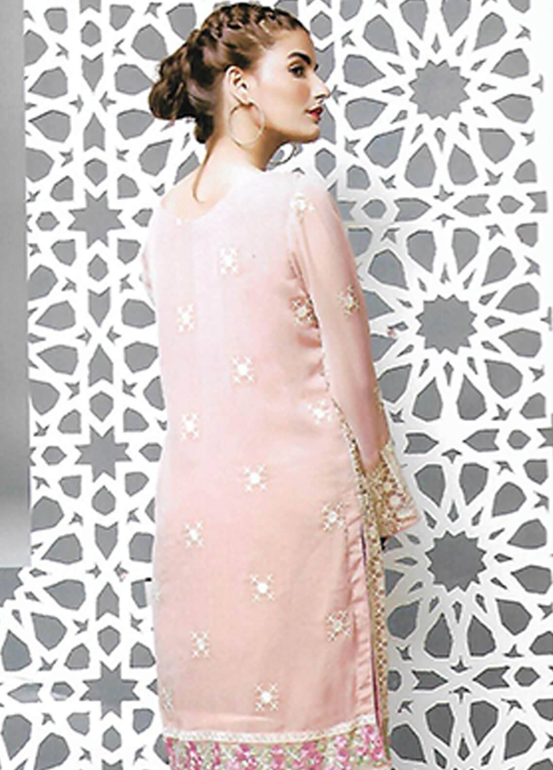 a074475ec5 Sahil By ZS Textiles Embroidered Organza Unstitched Kurties SE18KC 06 - Mid  Summer Collection