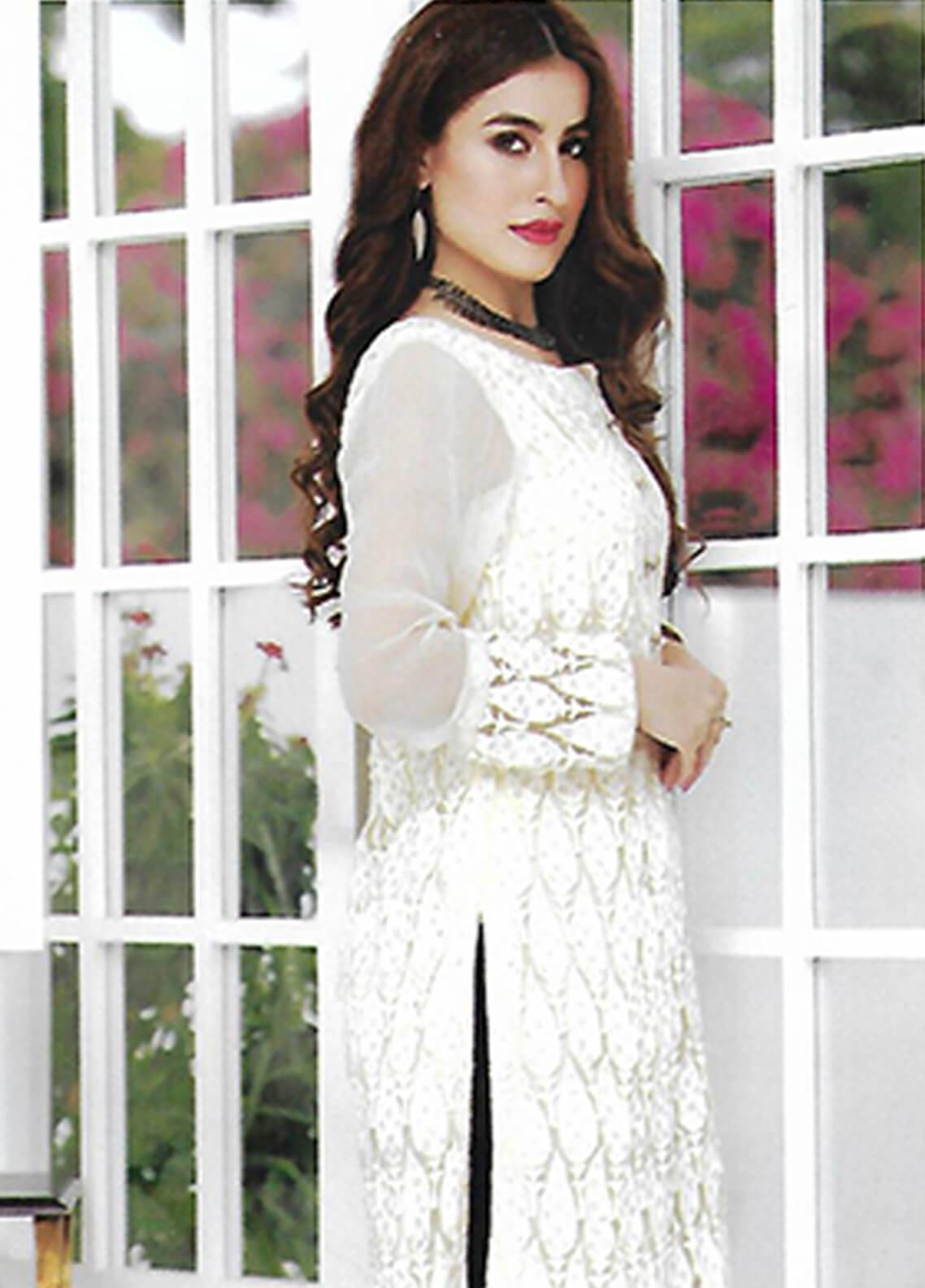 6b90aa321d Sahil By ZS Textiles Embroidered Organza Unstitched Kurties SE18KC 08 - Mid  Summer Collection