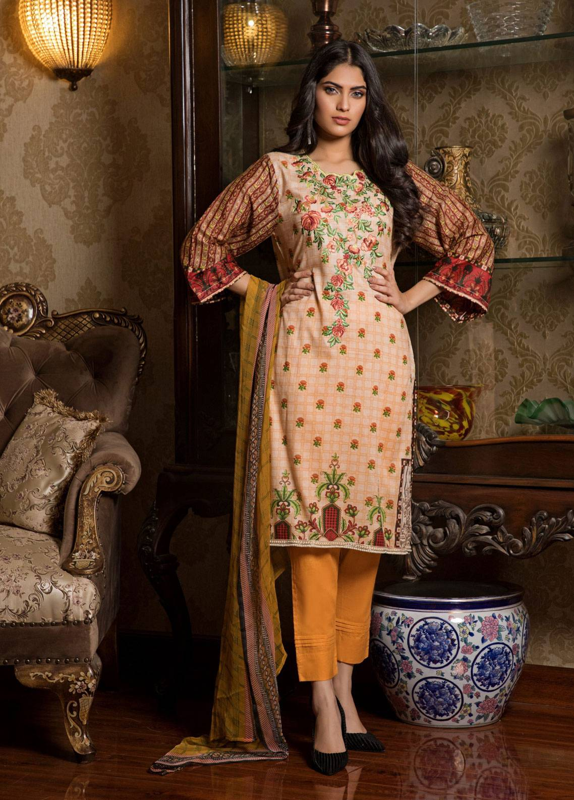 bc0a497890 Sahil By ZS Textiles Embroidered Lawn Unstitched 3 Piece Suit SL19L 2B -  Spring / Summer