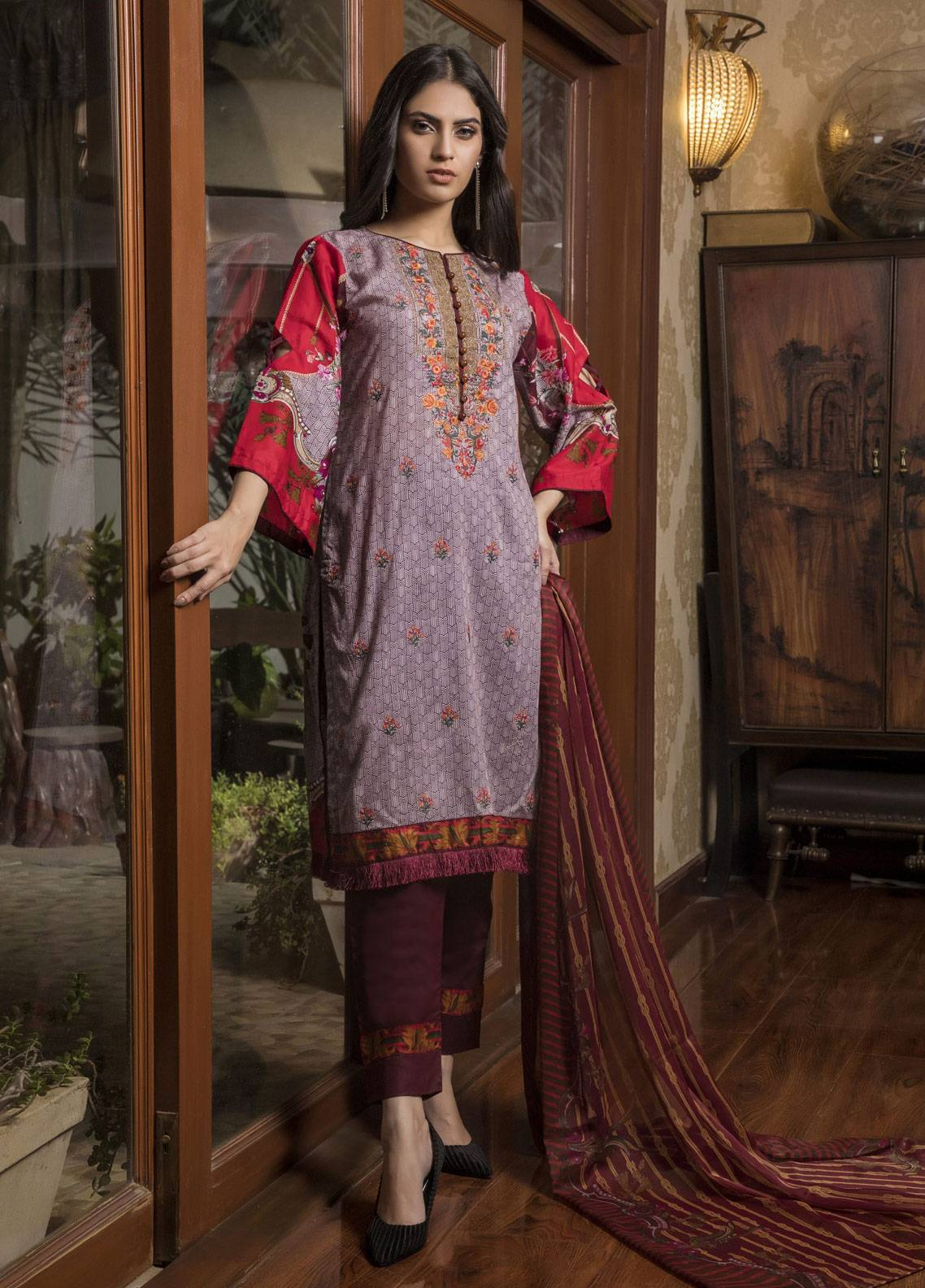 e425f1598a Sahil By ZS Textiles Embroidered Lawn Unstitched 3 Piece Suit SL19L 5A -  Spring / Summer