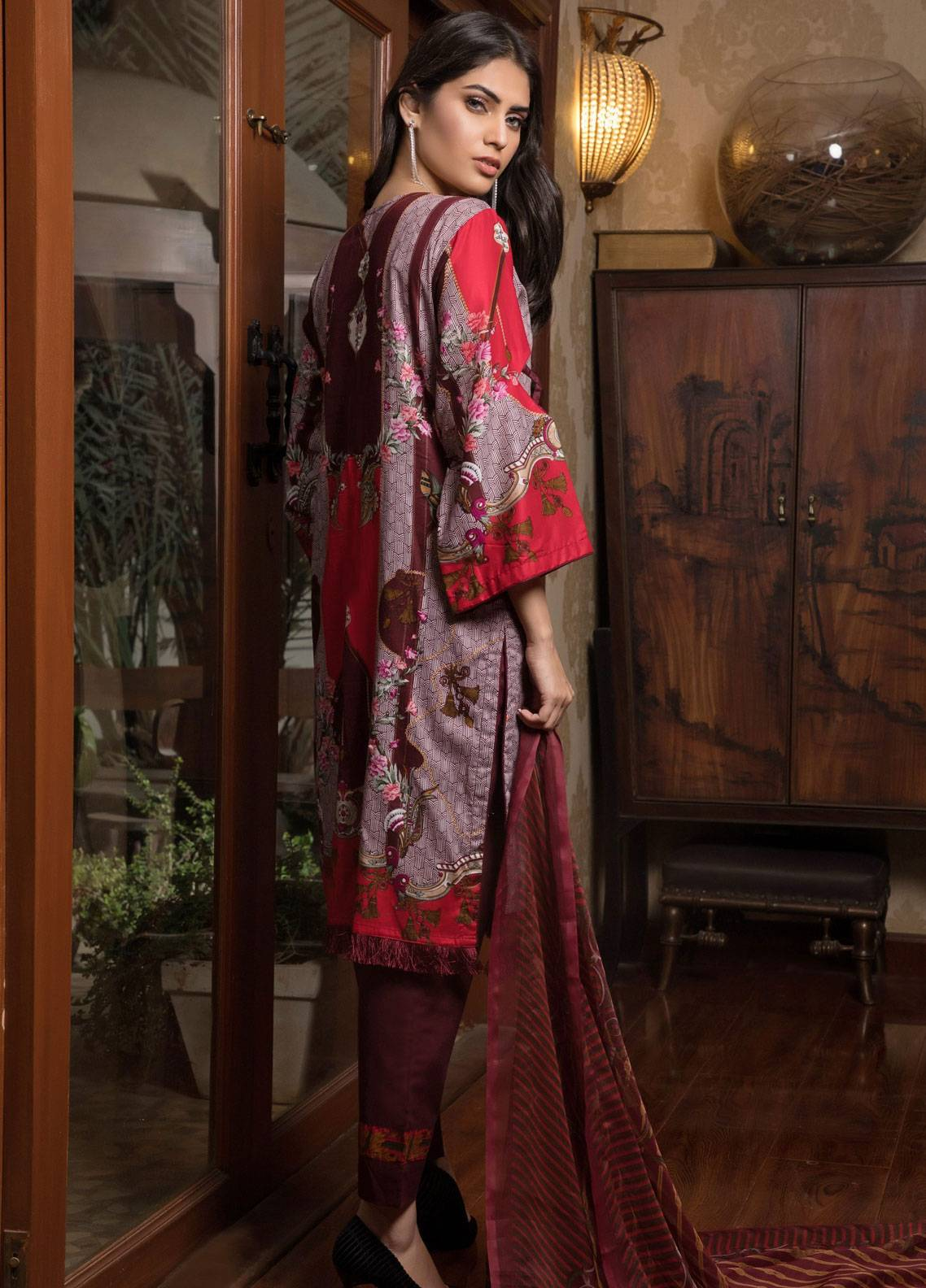 022ce98a9f Sahil By ZS Textiles Embroidered Lawn Unstitched 3 Piece Suit SL19L 5A -  Spring / Summer Collection