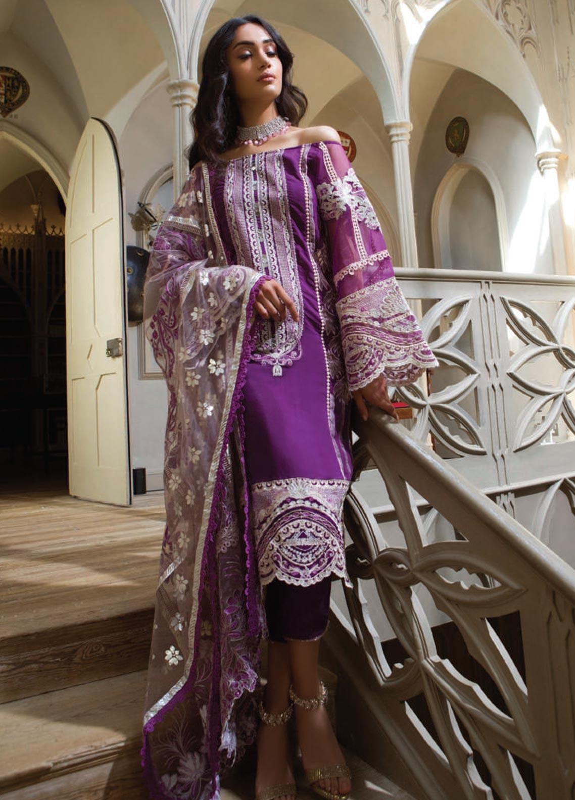 Saira Rizwan Embroidered Viscos Unstitched 3 Piece Suit SR19WF 8 ESMA - Wedding Collection