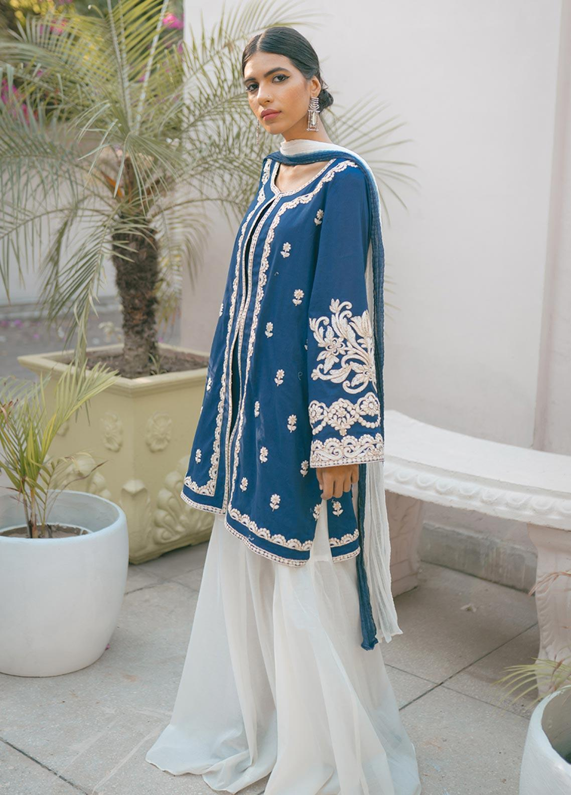 Saira Rizwan Embroidered Cotton Unstitched 3 Piece Suit SR20IS 1 - Eid Collection