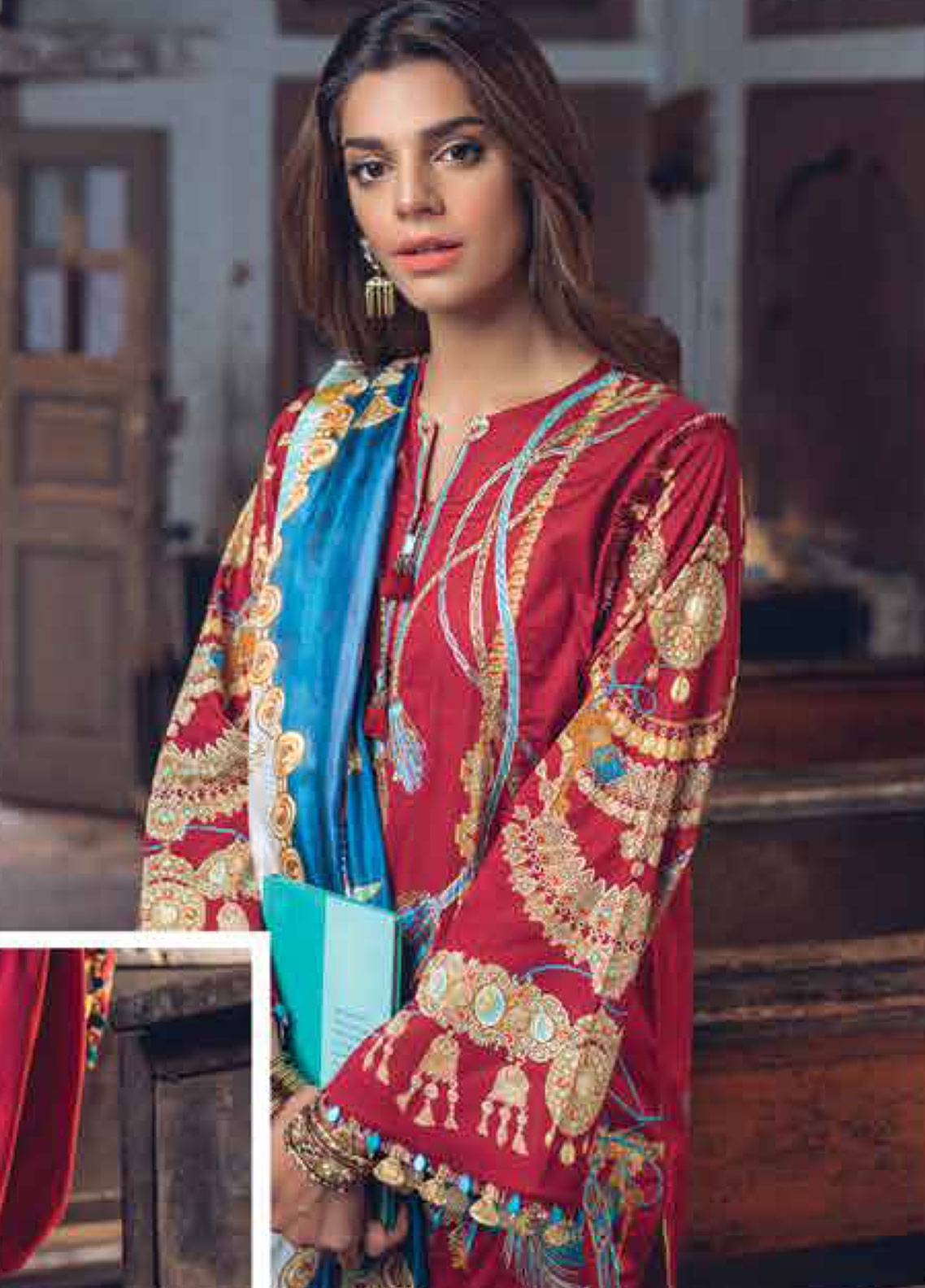 Saira Rizwan Embroidered Lawn Unstitched 3 Piece Suit SR19L 3 AFSHAAN - Spring / Summer Collection