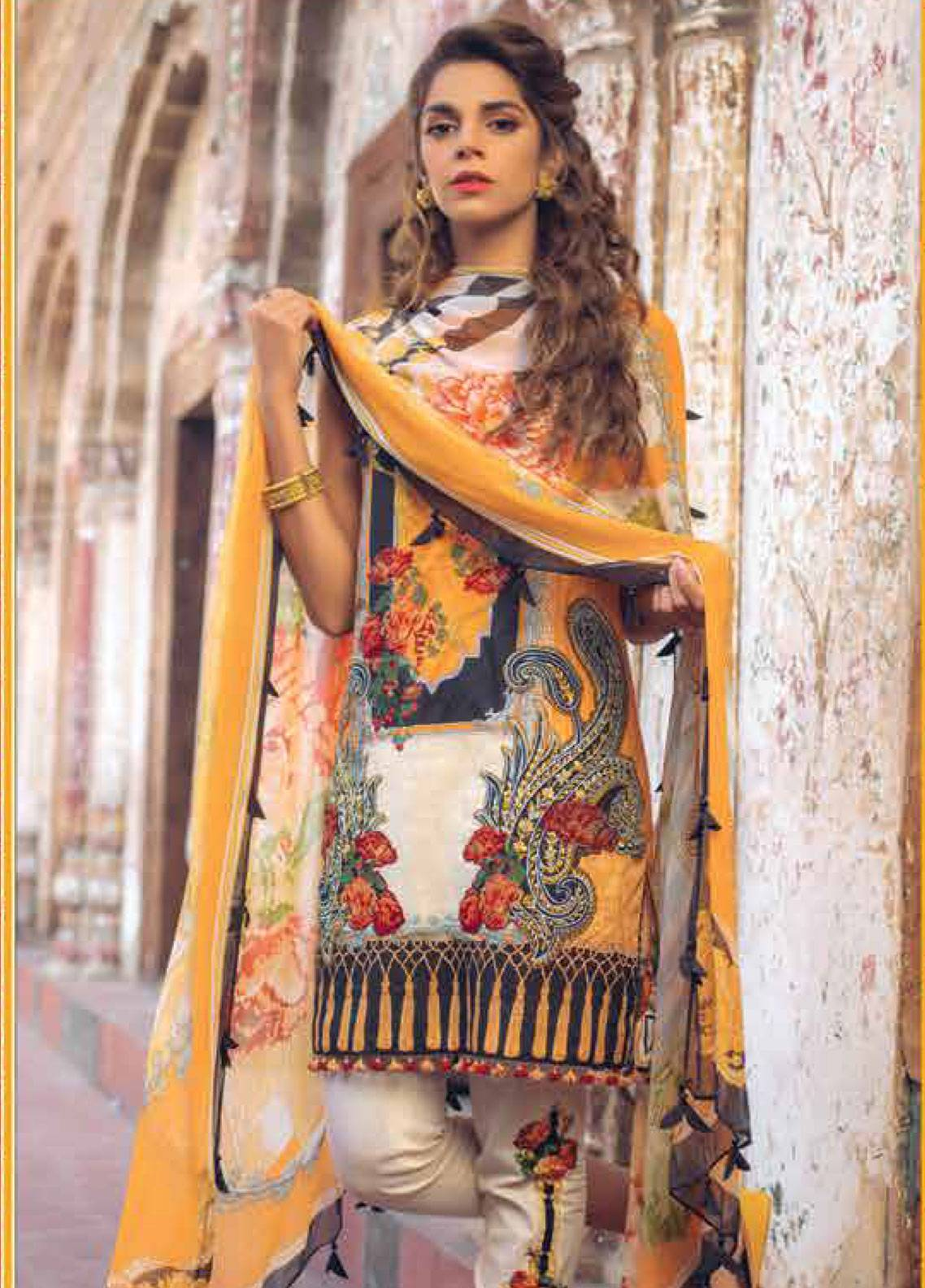 Saira Rizwan Embroidered Lawn Unstitched 3 Piece Suit SR19L 6 LAYINA - Spring / Summer Collection