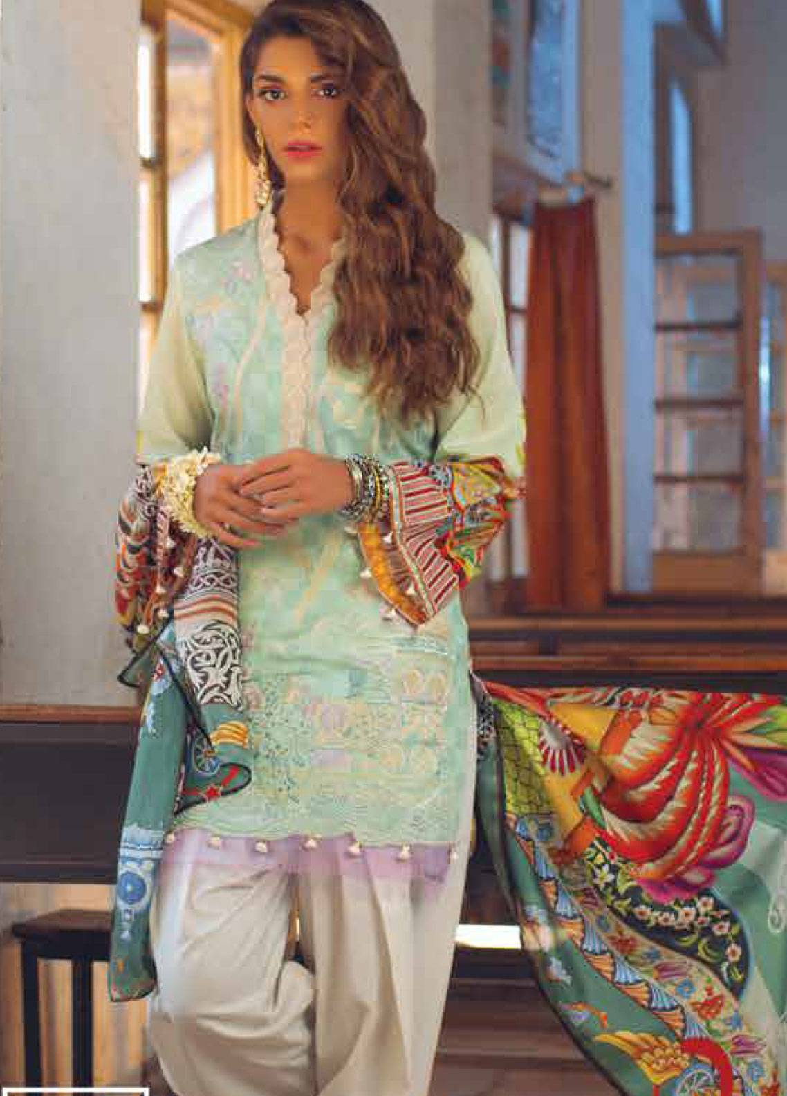 Saira Rizwan Embroidered Jacquard Unstitched 3 Piece Suit SR19L 9 FUROZAN - Spring / Summer Collection