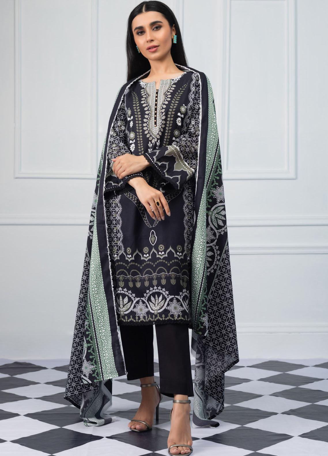 Salina by Regalia Textiles Printed Lawn Unstitched 3 Piece Suit SRG20BW 05 - Black & White Collection