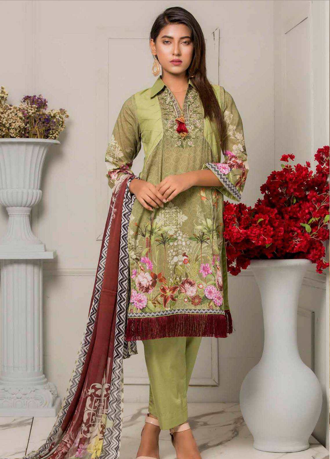 Salina by Regalia Textiles Embroidered Lawn Unstitched 3 Piece Suit SRG19F 01 - Festive Collection