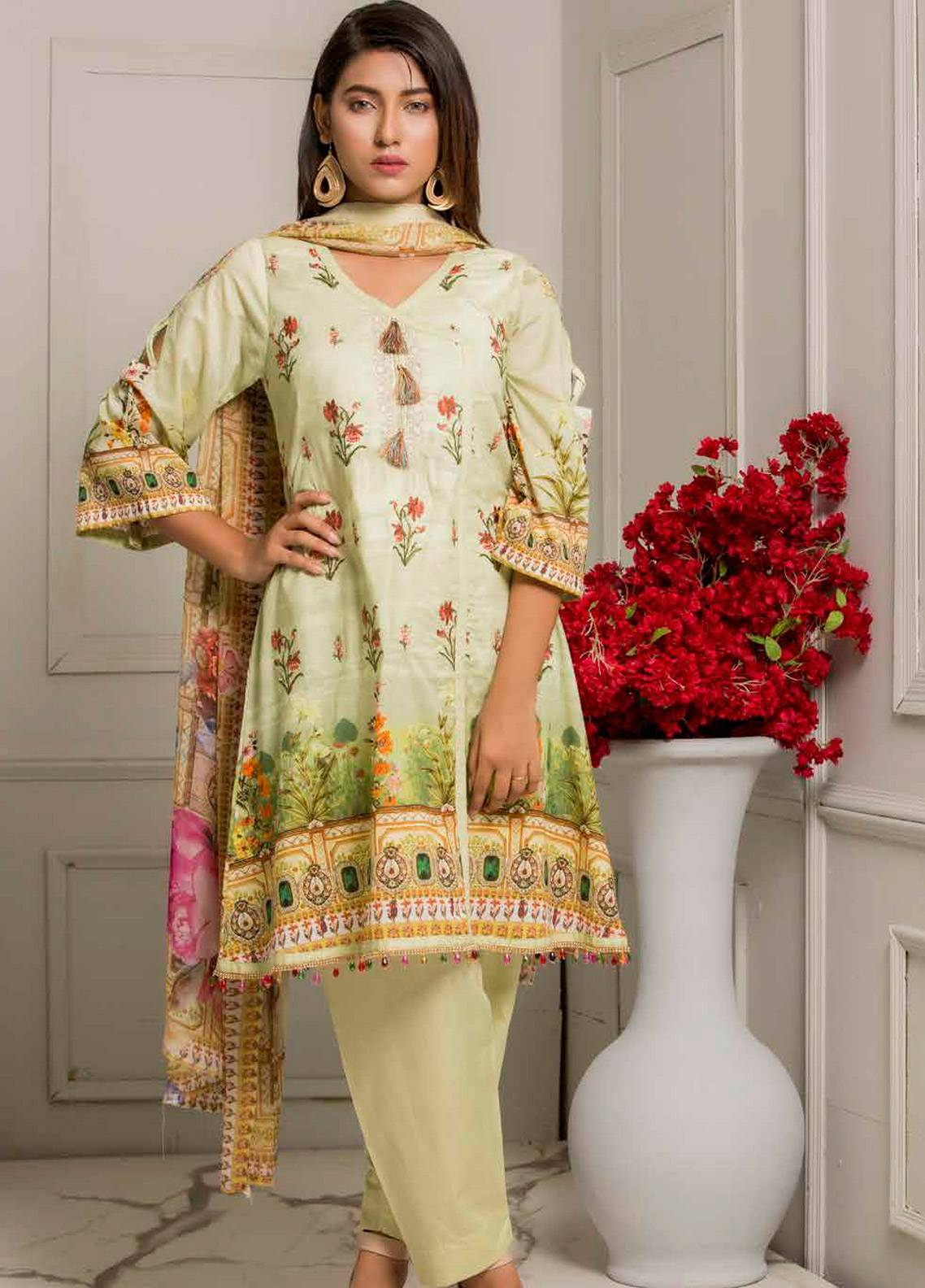 Salina by Regalia Textiles Embroidered Lawn Unstitched 3 Piece Suit SRG19F 03 - Festive Collection
